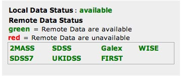 SkyView Survey Data Status Table