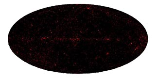 image of density at image center locations of all gamma-ray requests